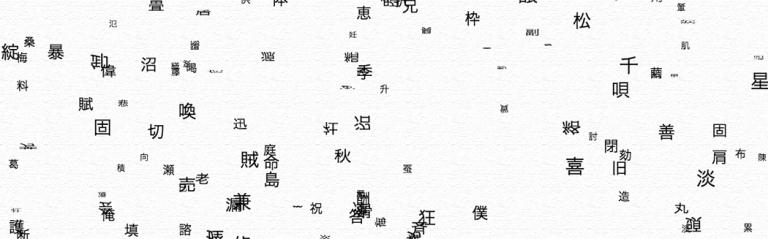 漢字で埋め尽くされる画面 --- The screen buried by kanji ---