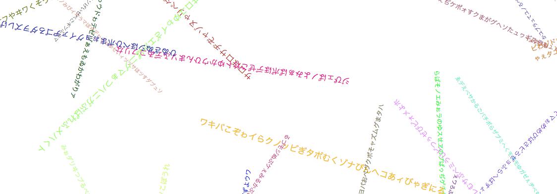 回転する言葉 — The words which circulate —